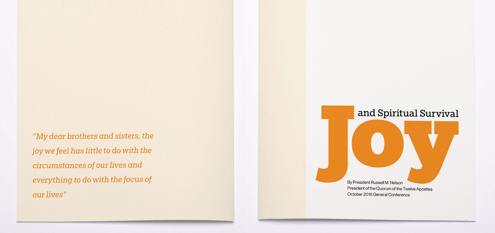 Joy and Spiritual Survival gift booklet mockup