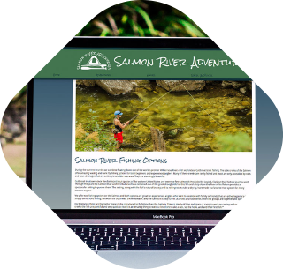 Salmon River Adventures website thumbnail